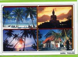 Chaweng Beach - Big Buddha - Sunset At Big Beach - Temple In Maenam, Samui Island - Tailandia