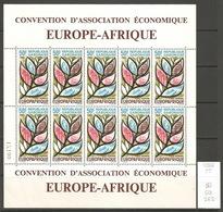 Gabon, Année 1966, Europafrique, Feuillet De 10 - Gabon