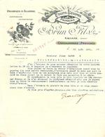 LETTRE 1921 BRUN & FILS GRANAT CHATEAURENARD PROVENCE PRODUIT D'ALGÉRIE  FRUITS PRIMEURS LÉGUMES - Alimentaire