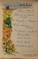 MENU De L'HOTEL NORD PINUS à Arles En Provence - Illustration P.K. D'A. - Pub Champagne IRROY - BE - Menus