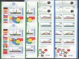 P317 1981 BULGARIA SHIPS EUROPEAN COOPERATION FLAGS & NATIONAL EMBLEMS !!! MICHEL 200 EURO !!! 4KB MNH - Ships