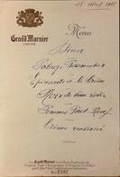MENU Du 13 Avril 1938 - Pub GRAND MARNIER - BE - Menus