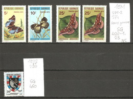 Gabon, Années 1971-2, Insectes, Blason (séries Non Complètes) - Gabon