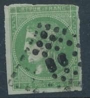 N°42 VERT FONCE AMBULANT. - 1870 Emission De Bordeaux
