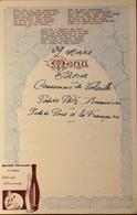 MENU DINER Du 29 Mars - Pub La BOUTEILLE PROVENCALE Propriété De Marcel OTT à Antibes (A-M)- TBE - Menus