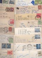 MONDE....TIMBRES.....LOT DE 48 SUR CPA CPSM........LOT 33 - Collections (without Album)