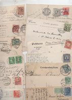 EUROPE....TIMBRES.....LOT DE 48 SUR CPA.......LOT 34 - Collections (without Album)