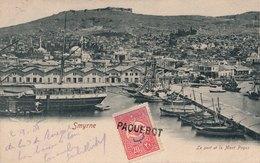 Turquie Constantinople + BM Smyrne Oblitération Paquebot Pour Paris Turkey - 1858-1921 Ottoman Empire