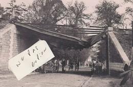 ARPAJON ( 91 )  - Pont Du Chemin De Fer Plastiqué Au- Dessus De La Porte D' Etampes ( Photo 15,5 Cm X 10 Cm ) - Reproductions