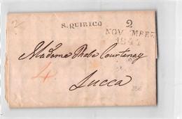 16363 SAN QUIRICO A Penna ROCCA D'ORCIA  X LUCCA - 1844 CON TESTO - Italy