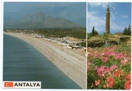 TURKEY/TURQUIE - ANTALYA MINARET / MOSQUE / THEMATIC STAMPS-FLOWERS - TELEPHONE - Turchia