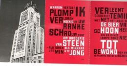 Antwerpen Staddichter Tom Lanoy Poezie Gedicht (5 Stuks) - Antwerpen