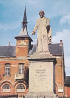 80 CHAULNES / MAIRIE ET STATUE DE LHOMOND / VUE UNIQUE - Chaulnes
