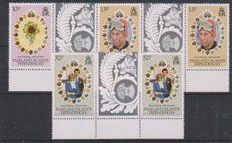 Falkland Islands Dependencies 1981 Royal Wedding 3v Gutter (margin) ** Mnh (38505) - Zuid-Georgia