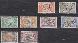 NIGERIA Scott # 80-7 Used - QEII With Various Scenes - Nigeria (...-1960)