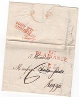 Départ. Conquis  TARO.......111  PLAISANCE Du 20.06.1812 - Marcophilie (Lettres)