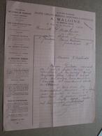 A. MALOINE ( V. Renaux Gérant ) LYON ( PARIS ) 1915 Librairie ( Correspondance / Facture / Bon De Commande ) ! - France