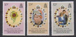 Falkland Islands Dependencies 1981 Royal Wedding 3v ** Mnh (38506) - Zuid-Georgia