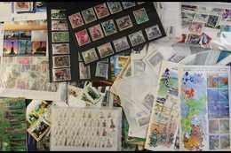 WORLD NHM GLASSINE SORTER  1990-2016. A Shoebox Full Of Glassine Envelopes Filled With Modern, Never Hinged Mint Ranges, - Briefmarken