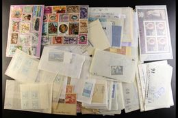 WORLD ACCUMULATION  Box Filled With Albums, Stock Books, Various Pages & Glassine Packets, Briefly We See, All Period, M - Briefmarken