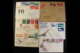 COVERS & CARDS HOARD  1850s - 2000s Small Box Filled With Mainly Pre-Decimal GB Covers & FDCs Note 1969 Machin High Valu - Briefmarken