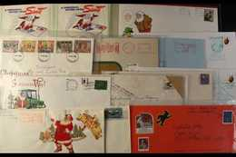 CHRISTMAS IN AMERICA  Early 1900's To Modern Substantial Assembly Of USA Christmas Related Covers, Cards, Stamps, And Va - Briefmarken