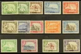 1939-48  Pictorial Definitive Set Plus ½a Listed Shade, SG 16/27, Very Fine Lightly Hinged Or Nhm (14 Stamps) For More I - Aden (1854-1963)