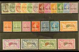 """FRENCH  1931 """"ANDORRE"""" Overprints, Complete Set, Yv 1/23, Fine Mint (23). For More Images, Please Visit Http://www.sanda - Briefmarken"""