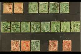 1863-84  Queen Victoria First Types Used Range Of Various 1d And 6d Values, Identified By SG Numbers, Mixed Condition, C - Antigua & Barbuda (...-1981)
