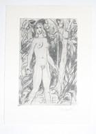Ex-libris Moderne XXème Illustré -  Allemagne - Femme Nue - J EBAAR - Gravé Par R. Koch - Bookplates