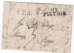 Départ. Conquis        ARNO.......112  PISTOLE Du 16.12.1812 - Postmark Collection (Covers)
