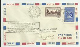 LETTRE - CAMBODGE - Voyage Inaugural Phnompenh/Hong-Kong Le 07/01/1961 - Cambodia