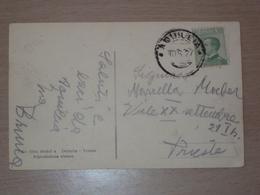 ITALIA STORIA POSTALE FRIULI CARTOLINA CON ANNULLO DI AQUILEIA SCALPELLATO POSTE ITALIANE - 1900-44 Victor Emmanuel III.