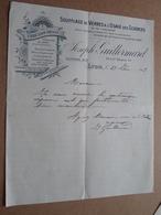 Joseph GUILLERMARD Rue Ste Hélène 34 LYON - 1913 ( Correspondance / Facture / Bon De Commande ) ! - France