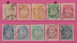 Norvège - 1894-98 - Obl. - Y&T  46a-47-48-49-50-52-55-56-57- - Gebruikt