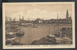 +++ CPA - ANTWERPEN  ANVERS - Yacht Club Et Vue De La Rade   // - Antwerpen