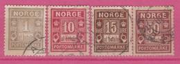 Norvège - 1889 - PORTOMAERKE - Obl. - Michel 1 II -3 II -4 II -6 I- - Norvegia