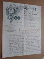 H. BOYER Pharmacie Rue Masséna 69 LYON - 1914 ( Correspondance / Facture / Bon De Commande ) ! - France