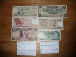 LOT 6 BILLETS GRECE POLOGNE IRAK - Coins & Banknotes