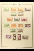 1938-45 FINE MINT AIR POST STAMPS  Includes 1938 10p 10th Anniv (both Perfs), 1938 10th Anniv Miniature Sheet, 1944 Inde - Lebanon