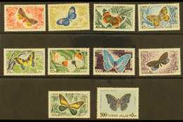 1965  Air Butterflies Complete Set, SG 873/82, Never Hinged Mint. (10 Stamps) For More Images, Please Visit Http://www.s - Lebanon