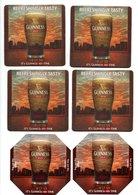 6 DIFFERENT NEW UNUSED GUINNESS BEERMATS - Beer Mats