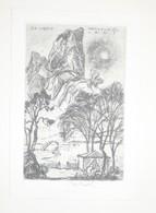 Ex-libris Moderne XXème Illustré -  Allemagne - Couple Dans Un Paysage De Montagne- Hans Liesel LAUT - Gravé Par R. Koch - Bookplates