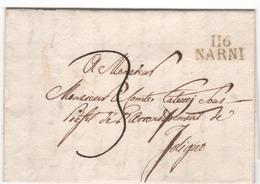 Depart. Conquis  ROME...116 NARNI Du 14.08.1811 - Marcophilie (Lettres)