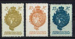 Liechtenstein 1920 // Mi. 25,26,27 ** (021..828) - Liechtenstein