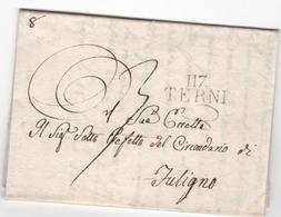 Départ. Conquis TRANSIMENE.....117 TERNI Du 18.07.1810 - Postmark Collection (Covers)