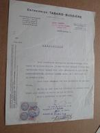 Entreprise TABARD - Bussière Montluçon / 1946 ( Correspondance / Facture / CERTIFICAT ) ! - France