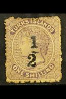 1881  '½' On 1s Lilac, Setting 4, SG 12, Mint, Lightly Toned Og. Cat £275 For More Images, Please Visit Http://www.sanda - Turks And Caicos