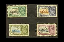 """1935  Silver Jubilee Set, Perforated """"Specimen"""", SG 187s/9s, Fine Mint, Large Part Og. (4 Stamps) For More Images, Pleas - Turks And Caicos"""