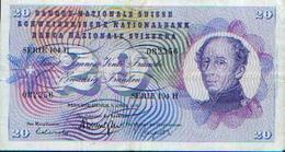 SUISSE – 20 Francs – 09.04.1976 - Switzerland